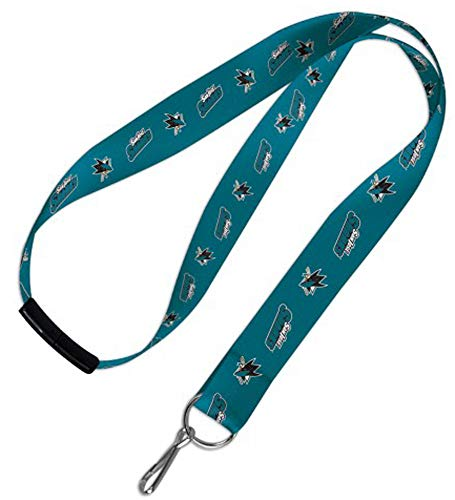 Wincraft NHL San Jose Sharks Lanyard with Safety Breakaway - For Badges Lanyards Id Nhl
