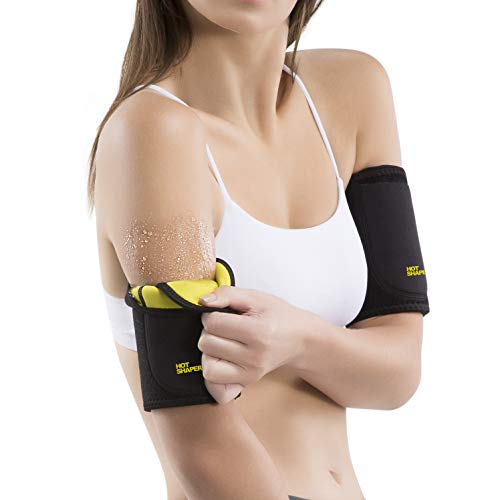 cecd8b89205 Hot Shapers Hot Arms – Adjustable Arm Trimmer Sweat Bands with Phone Pocket  for Running