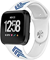 Kmasic Sport Band Compatible Fitbit Versa/Fitbit Versa Lite Edition, Soft Silicone Strap Replacement Wristband Fitbit...