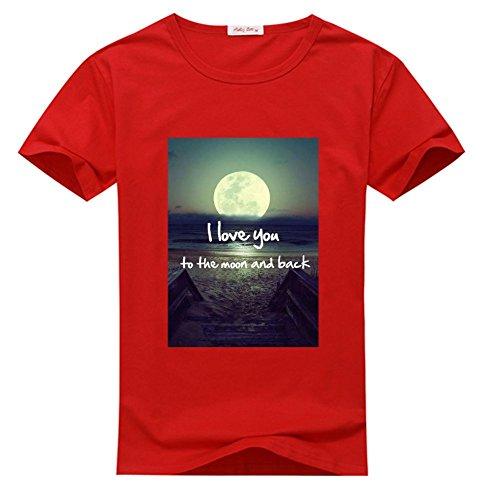 I Love You To The Moon And Back Tee Shirt T-shirt Tshirt, Custom Tee Shirts for Men