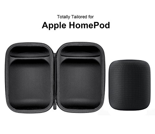 HomePod Travel Case, Carry Bag With Holding Strap Drop, Protection Dust Cover Shockproof Carrying Case For Apple HomePod Speaker (Black) by BESTAND (Image #5)