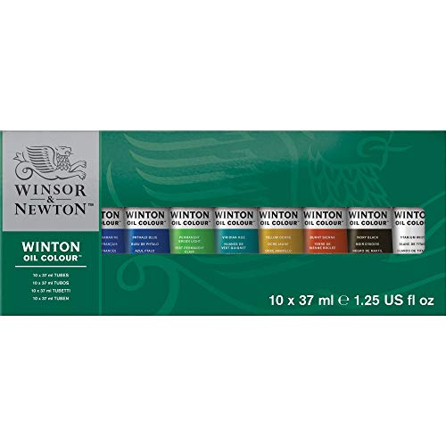 - Winsor & Newton Winton Oil Colour Paint Starter Set, Ten 37ml Tubes