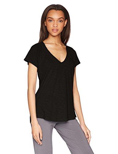 PJ Salvage Women's Riveting Basics Short Sleeve Tee, Black, M