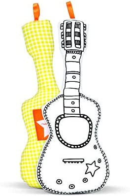 Guitarra para colorear + 4 rotuladores lavables: Amazon.es ...
