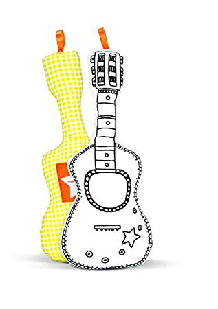 Guitarra para colorear + 4 rotuladores lavables: Amazon.es: Juguetes ...