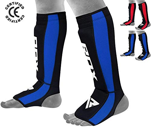 Verus Shin Instep Guards MMA Kickboxing Muay Thai Leg Support Protector Pad
