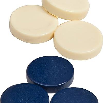 "Bello Games Uria Stone Backgammon Checkers (Blue & Ivory, 1""): Toys & Games"