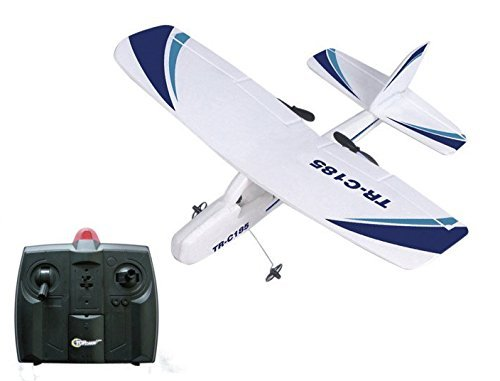 Top Race Cessna C185 Electric 2 Ch Infrared Remote Control RC Airplane, Ready to Fly (Colors Vary)