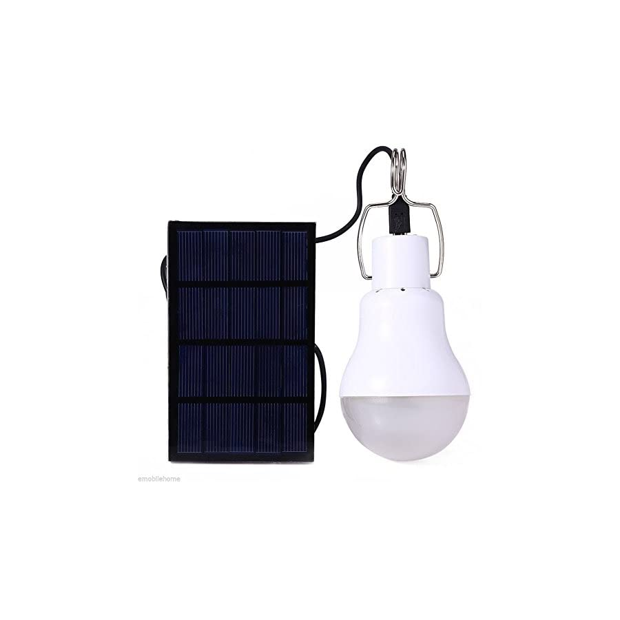 Cathery S 1200 15W 130LM Portable Led Bulb Light Charged Solar Energy Lamp