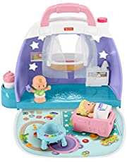 Fisher-Price GKP70 - Little People Cuddle & Play Nursery-lekset, Bärbart med Lekfigurer, för Barn från 18 månader