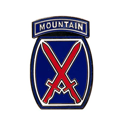 (Dope Waffles 10th Mountain Division SSI US Army Unit Insignia Enamel Pin )