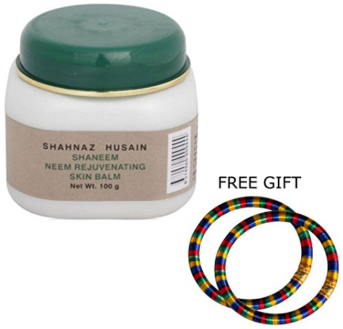 Shahnaz Husain Neem Rejuvenating Skin Balm Plus - 100G - (Pair Of Multicolor Bangles)