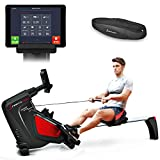 Sportstech RSX500 rowing machine with smartphone control – fitness app – 12 rowing programs – 16 resistance levels – competition mode – pulse belt in value of 29.90£ included – foldable