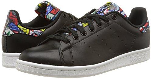 adidas Originals Stan Smith, Zapatillas de Deporte Unisex Adulto, Negro (Core Black/Core Black/FTWR White), 45 1/3 EU