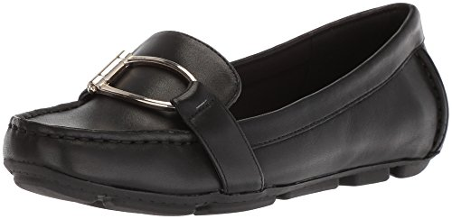 etra Leather Loafer Flat, Black Leather, 5.5 M US (Anne Klein Loafers)