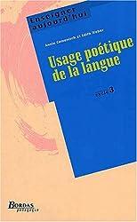 USAGE POETIQUE LANGUE CYC3    (Ancienne Edition)