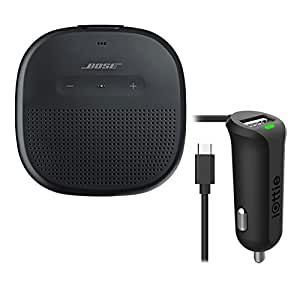 Bose SoundLink Micro Waterproof Bluetooth Speaker, Black, with Micro USB Car Charger
