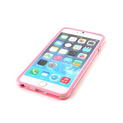 Stunning Style Iphone 6 Plus Silicon Bumper Transparent Pink by G4GADGET®