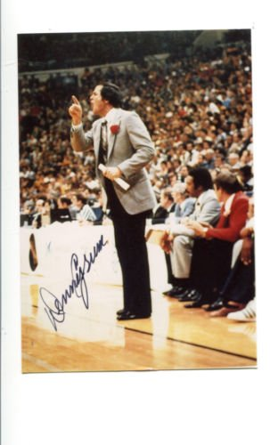 denny-crum-signed-photo-3x5-autographed-louisville-10092