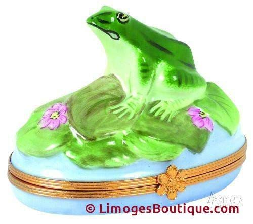 Frog - French Limoges Boxes - Porcelain Figurines Collectible Gifts ()