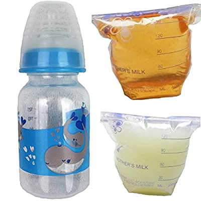 Reborn Sealed Bottle Bag Fake Formula Milk & Apple Juice OOAK Baby Doll Boy Whale - 3 PC Set: Toys & Games