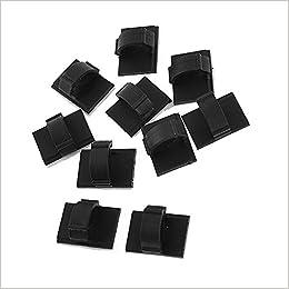 TPgoBuy - 10 clips de plástico autoadhesivos de 10 mm para sujetar cables en el coche: Amazon.es: Libros