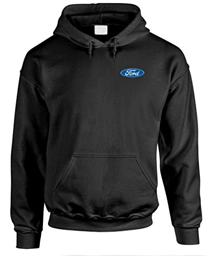 Logo Crest Ford Tough - Officially Licensed - Mens Pullover Hoodie, 2XL, Black