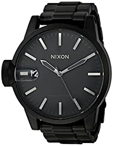 Nixon Men's 'Chronicle SS' Swiss Quartz Stainless-Steel-Plated Watch, Color:Black (Model: A1981028-00)