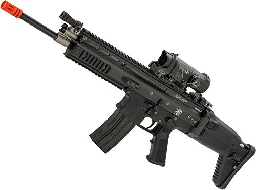 Evike FN Herstal Licensed Full Metal Scar-L Airsoft AEG Rifle by WE-Tech (Color: Black/Carbine)