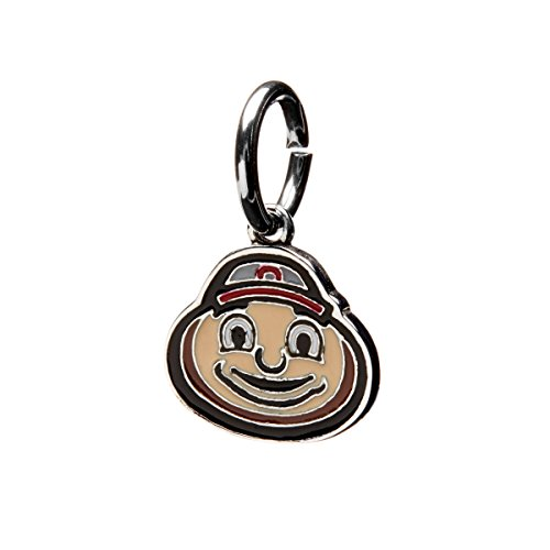 Brutus Buckeye Ohio State Charm | Ohio State Bracelet Charm | OSU Gifts