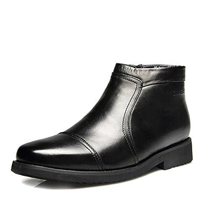 les chaussures en cuir coton chaud l'hiver