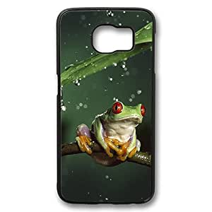 Samsung Galaxy S6 Case, Tiny Tree Frog Case Cover for Samsung Galaxy S6 Polycarbonate Plastic Hard Case - Black