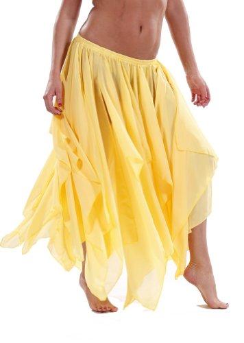 BELLY DANCE ACCESSORIES 13 PANEL CHIFFON SKIRT - YELLOW ()