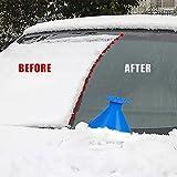 TIGERNU Round Ice Scraper Magic Cone-Shaped Car Ice