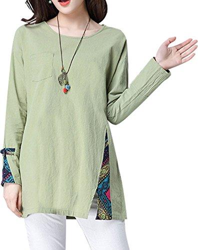 Soojun Womens Cotton T Shirt Blouses