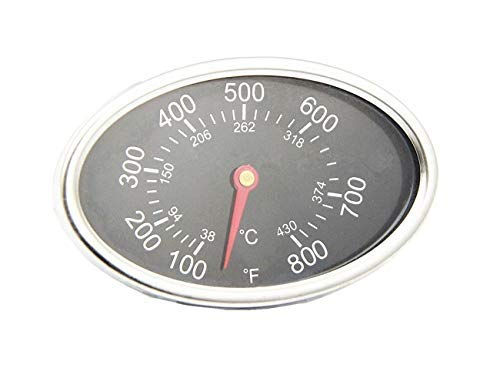 Vicool Stainless Steel Lid Thermometer for GrillMaster 720-0697, 720-0737, Gas Grill Heat Indicator Replacement for Nexgrill 720-0830H, 720-0888, Charmglow, Brinkmann and Others, hyT55B