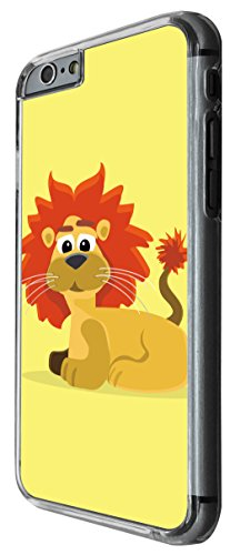 1149 - Cute Fun Lion Animal Drawing Yellow Design For iphone 6 Plus / iphone 6 Plus S 5.5'' Fashion Trend CASE Back COVER Plastic&Thin Metal -Clear