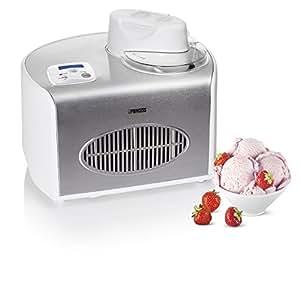 Princess 282601 Compresor de helados 1.5L 150W Plata, Blanco - Heladora (Compresor de helados, 1,5 L, 50 min, 1 senos, LCD, Plata, Blanco)