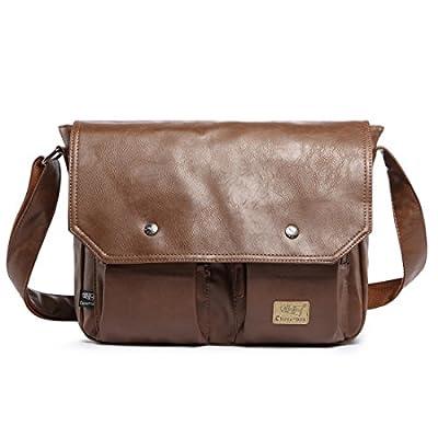 Alafe Retro College Book Messenger Bag Men Laptop Business Briefcase Crossbody Bag lovely