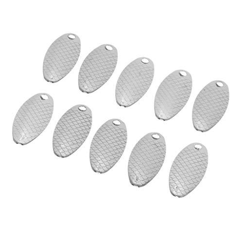 Ameglia 10 Pieces 2.6cm/0.8g Artificial Metal Sequins Spoon Hard Fishing Lure Baits (Color - Sliver)