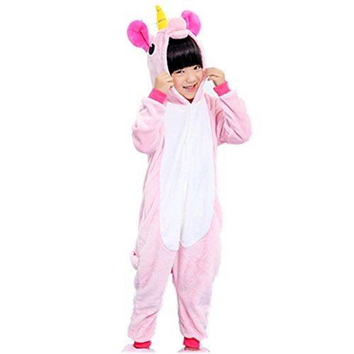 Kids Animal Onesie Pajamas Halloween Costume Cosplay for Boys Girls Child Pink XL