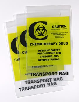 BAG CHEMOTHERAPY TRANSORT BAG 6X9IN 500CT