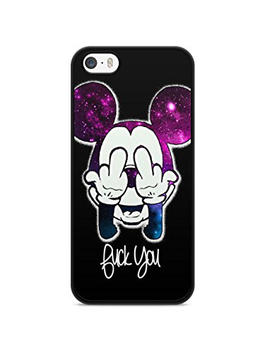 Coque Iphone 5 / 5s / SE Disney mickey OBEY swag fuck weed love Hard case REF10739