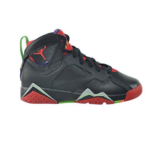 Jordan Air 7 Retro BG Boys Sneakers 304774-034 Black/University Red-green Pulse-clay Grey