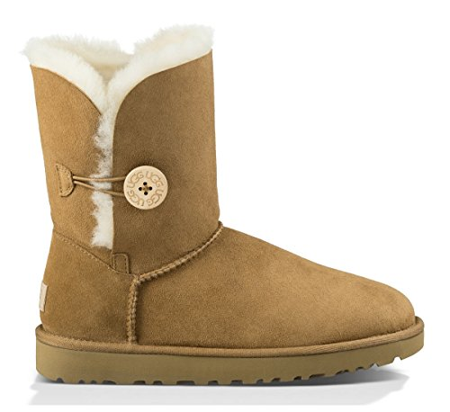 UGG Women's Bailey Button II Winter Boot, Chestnut, 8 B US ()