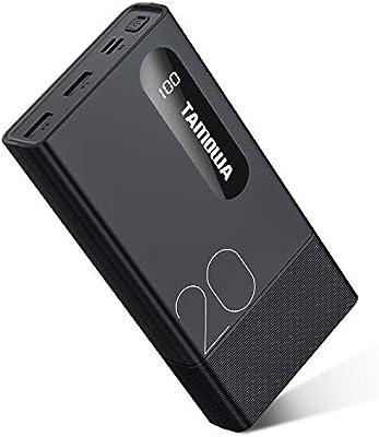 TAMOWA Power Bank 20000mAh Batería Externa con Pantalla LCD ...