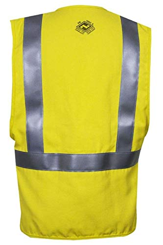 National Safety Apparel V20TV2VXL Contractor Class 2 FR Hi-Vis Safety Vest, X-Large, Fluorescent Yellow by National Safety Apparel Inc (Image #1)