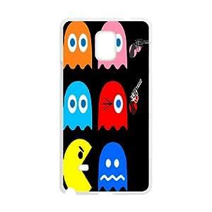 DIY Stylish Printing Pacman Cover Custom Case For Samsung Galaxy Note 4 N9100 MK1W632650