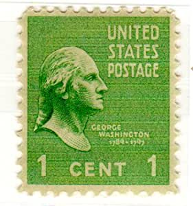 Amazon Com Postage Stamps United States One Single 1 Cent Green George Washington
