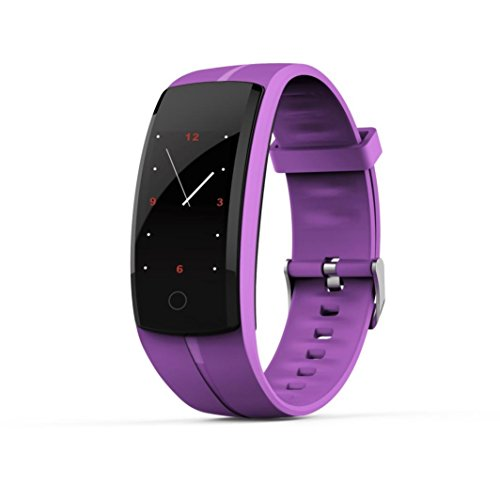 Ounice Smartwatch Fitness Tracker QS100 Calorie Blood Pressure Exercise Heart Rate Pedometer Smart Watch (Purple) by Ounice